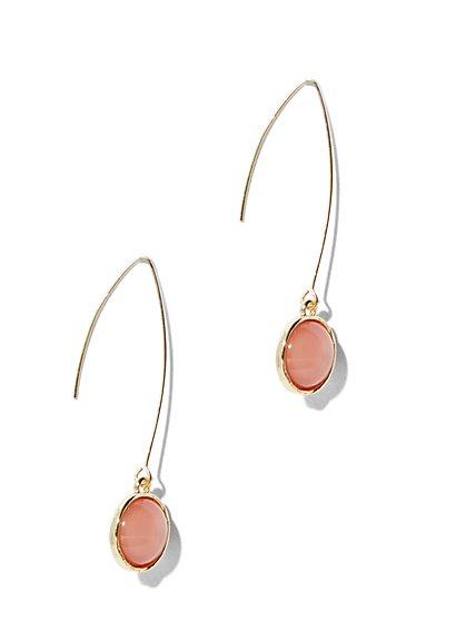 Faux-Stone Drop Earring - New York & Company