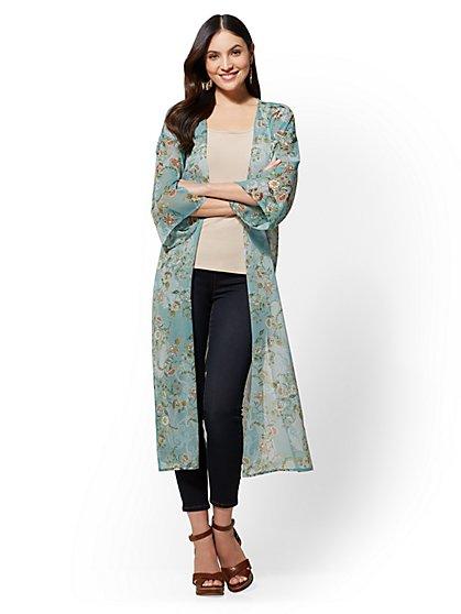 Floral Kimono Topper - New York & Company