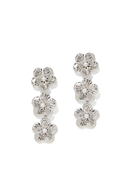 Fl Linear Drop Earring New York Company