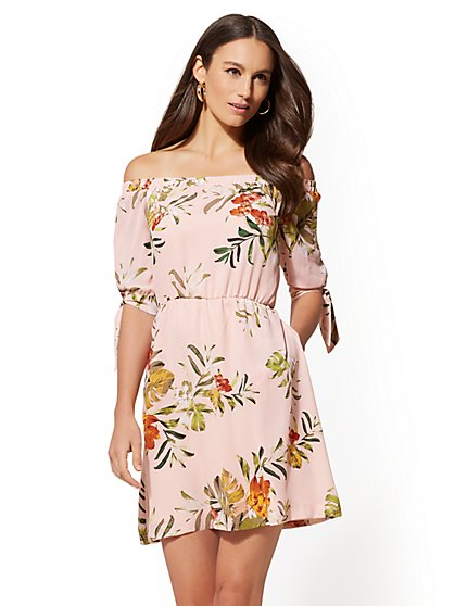 Floral Off-The-Shoulder Dress - New York & Company