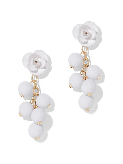 Floral & Spherical Drop Earring - New York & Company