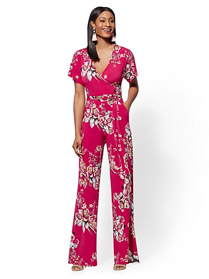 Floral Wrap Jumpsuit - New York & Company