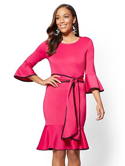 Flounced Sheath Dress - New York & Company