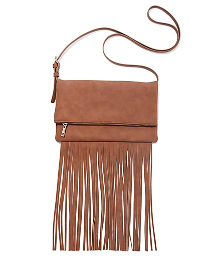 Fringe-Trim Bag - New York & Company