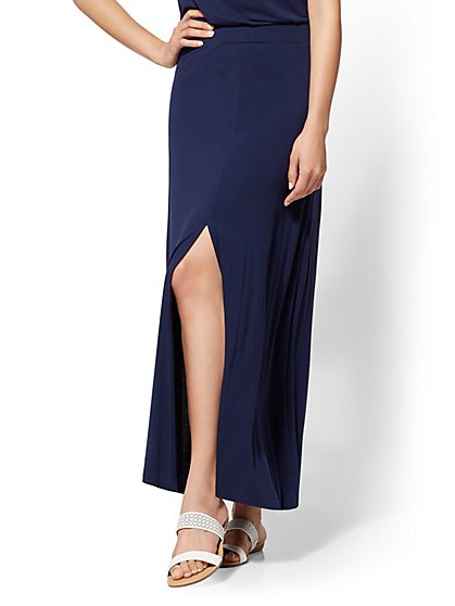 Front-Slit Pull-On Skirt - New York & Company