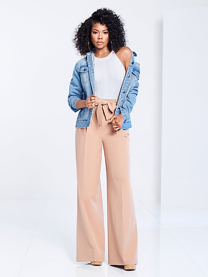 Gabrielle Union Collection - Belted Wide-Leg Pant - New York & Company