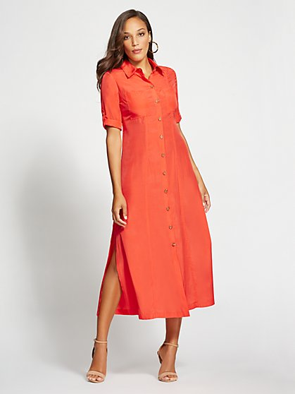 Gabrielle Union Collection - Coral Shirtdress - New York & Company