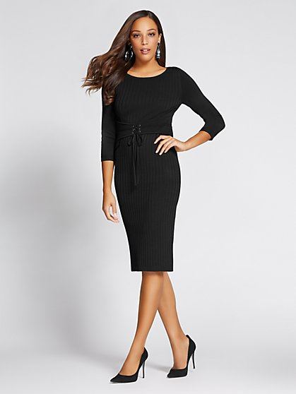Gabrielle Union Collection - Corset Sweater Dress - New York & Company
