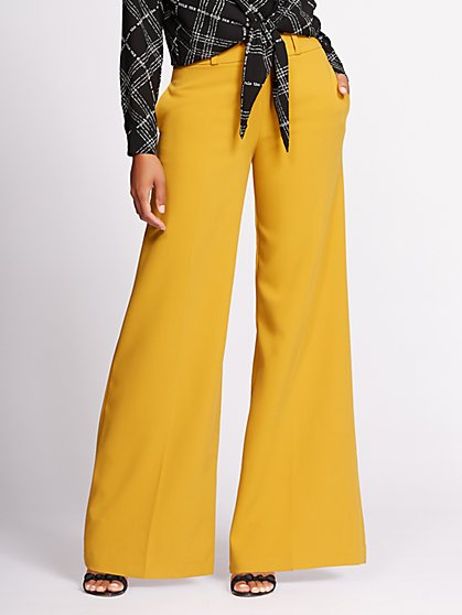 Gabrielle Union Collection - Double-Waistband Wide-Leg Pant - New York & Company