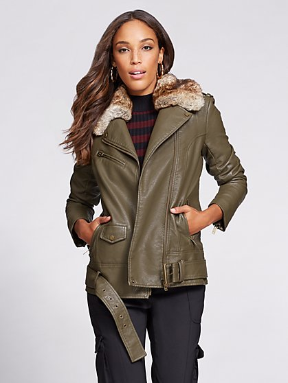Gabrielle Union Collection – Faux-Leather Moto Jacket - New York & Company