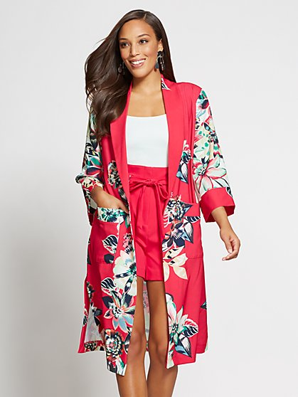 Gabrielle Union Collection - Floral Kimono Jacket - New York & Company