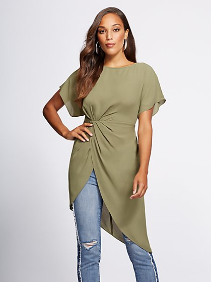 Gabrielle Union Collection - Hi-Lo Tunic Blouse - New York & Company