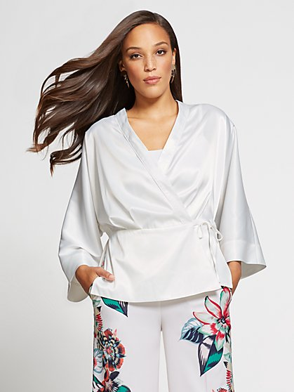 Gabrielle Union Collection - Ivory Kimono Jacket - New York & Company