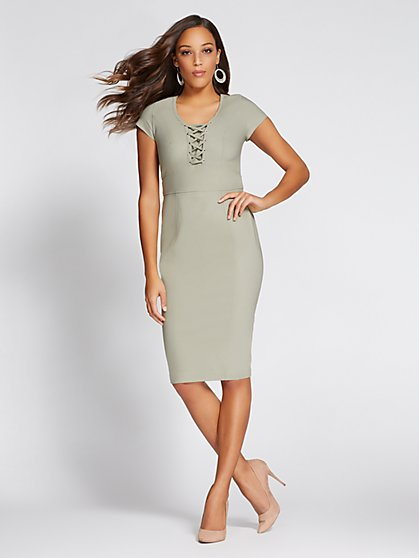 Gabrielle Union Collection - Lace-Up Sheath Dress - New York & Company