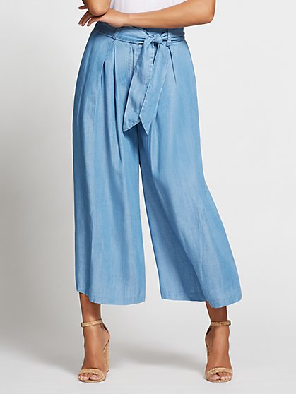 Gabrielle Union Collection - Light Blue Wide-Leg Pant - New York & Company
