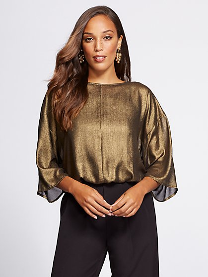 Gabrielle Union Collection - Metallic Dolman Blouse - New York & Company