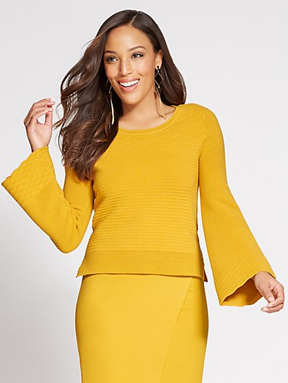 Gabrielle Union Collection - Mixed-Stitch Crop Sweater - New York & Company