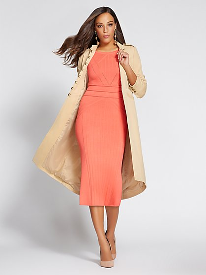 Gabrielle Union Collection - Mock-Neck Long Jacket - New York & Company