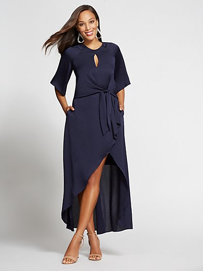 Gabrielle Union Collection - Navy Hi-Lo Maxi Dress - New York & Company