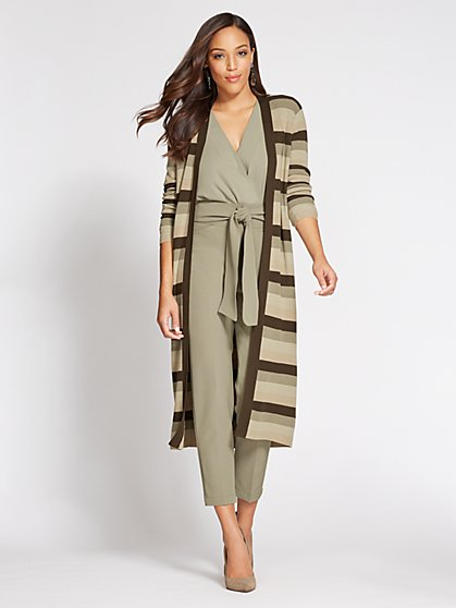 Gabrielle Union Collection - Open-Front Duster - Stripe - New York & Company