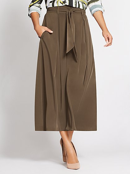 Gabrielle Union Collection - Paperbag-Waist Palazzo Pant - New York & Company