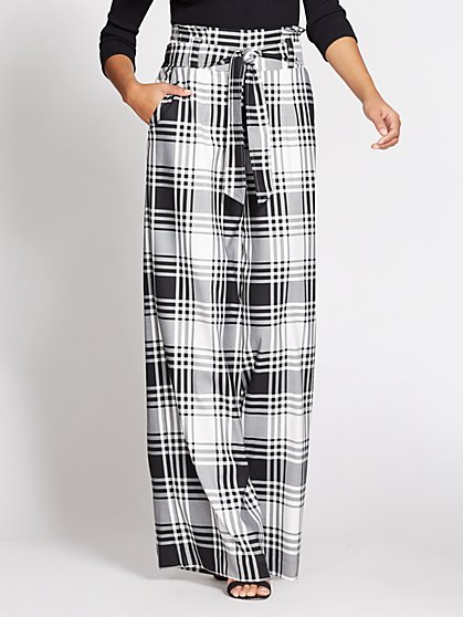 Gabrielle Union Collection - Paperbag-Waist Pant - Plaid - New York & Company