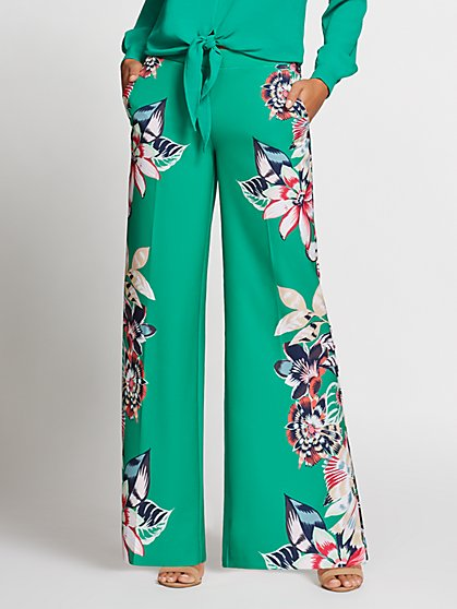 Gabrielle Union Collection - Petite Floral Palazzo Pant - New York & Company