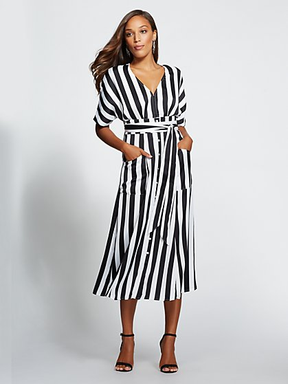 Gabrielle Union Collection - Petite Striped Kimono Dress - New York & Company