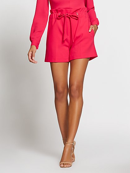 Gabrielle Union Collection - Pink Paperbag-Waist Short - New York & Company