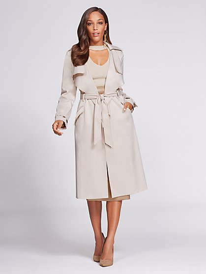 Gabrielle Union Collection - Piped Trench Coat - New York & Company