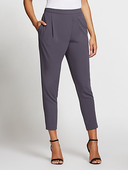 Gabrielle Union Collection - Pleated-Waist Slim Pant - New York & Company
