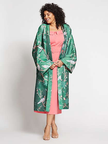 Gabrielle Union Collection - Plus Reversible Kimono Jacket - New York & Company