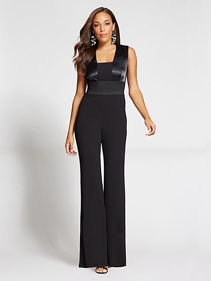 Gabrielle Union Collection – Satin Detail Jumpsuit - New York & Company