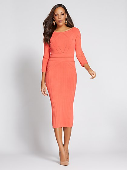 Gabrielle Union Collection - Stitched Sweater Dress - New York & Company