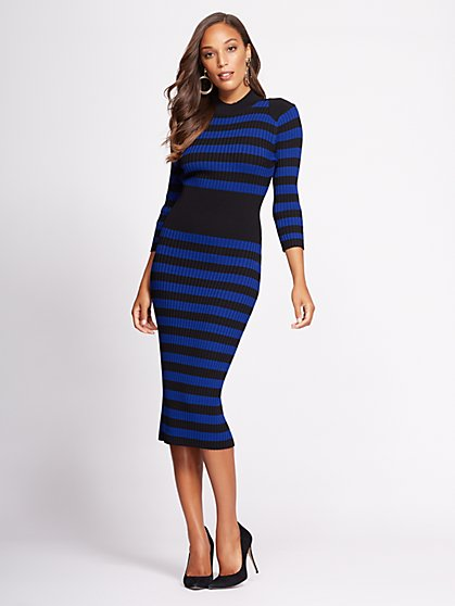 Gabrielle Union Collection - Stripe Sweater Dress - New York & Company