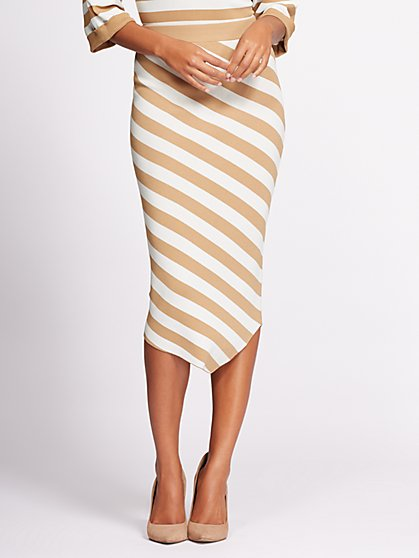Gabrielle Union Collection - Stripe Sweater Skirt - New York & Company