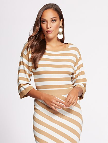 Gabrielle Union Collection - Stripe Sweater - New York & Company