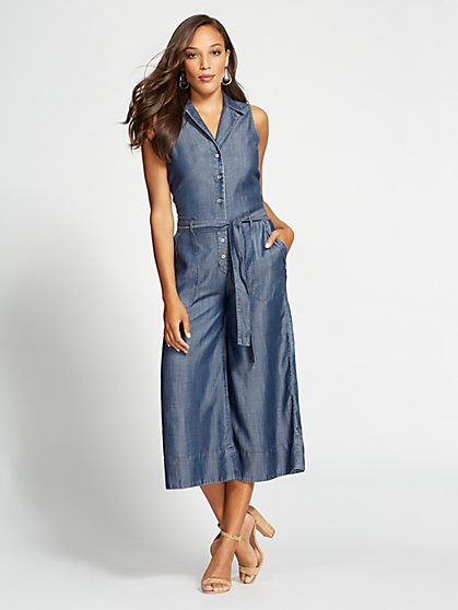 Gabrielle Union Collection - Tall Ultra-Soft Chambray Jumpsuit - New York & Company