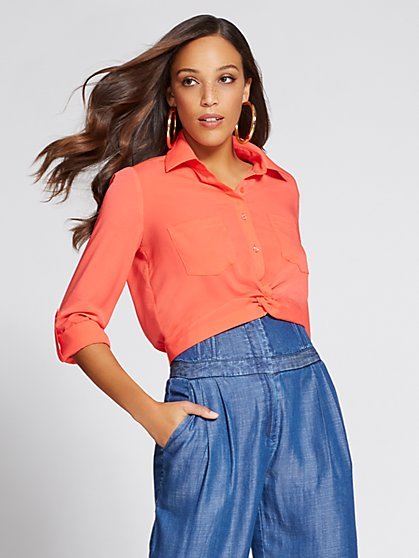Gabrielle Union Collection - Twist-Front Shirt - New York & Company