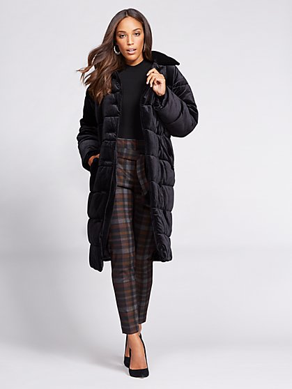 Gabrielle Union Collection - Velvet Puffer Coat - New York & Company