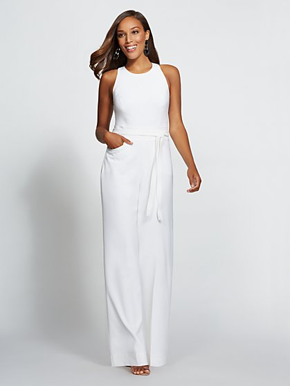 Gabrielle Union Collection - White Halter Jumpsuit - New York & Company