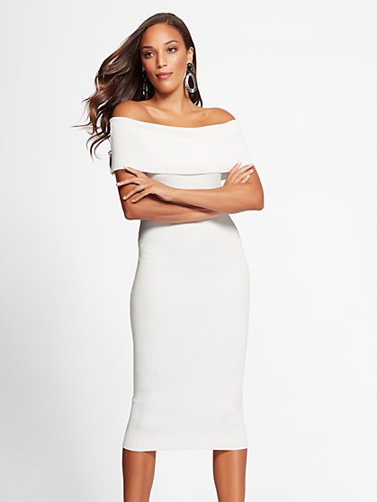 Gabrielle Union Collection - White Sweater Dress - New York & Company