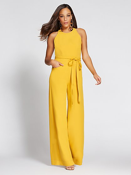 Gabrielle Union Collection - Wide-Leg Halter Jumpsuit - New York & Company