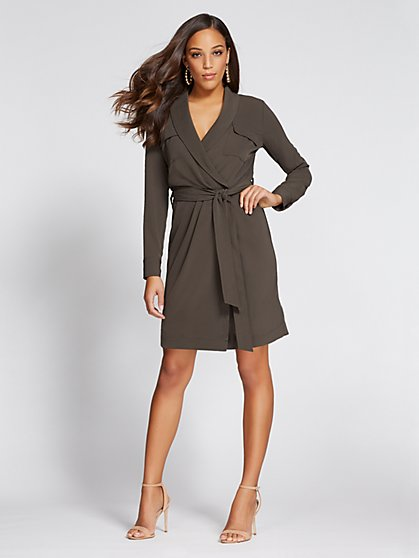 Gabrielle Union Collection - Wrap Shirt Dress - New York & Company