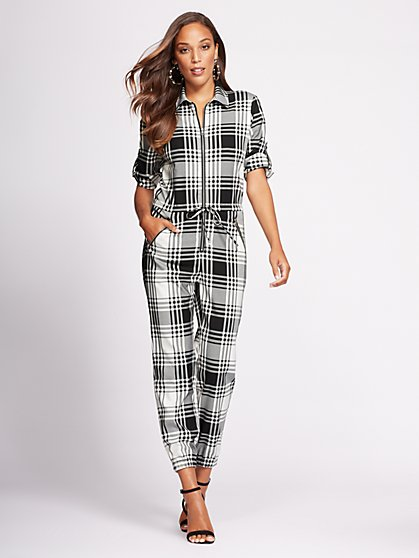 Gabrielle Union Collection - Zip-Front Jumpsuit - New York & Company