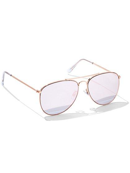 Goldtone Aviator Sunglasses - New York & Company