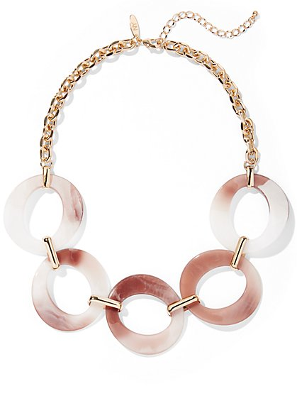 Goldtone Circular Link Necklace - New York & Company