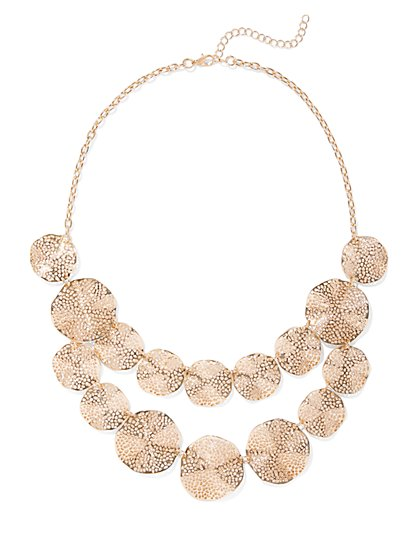Goldtone Disc Necklace - New York & Company