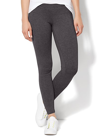 Grey Crop Yoga Legging - New York & Company