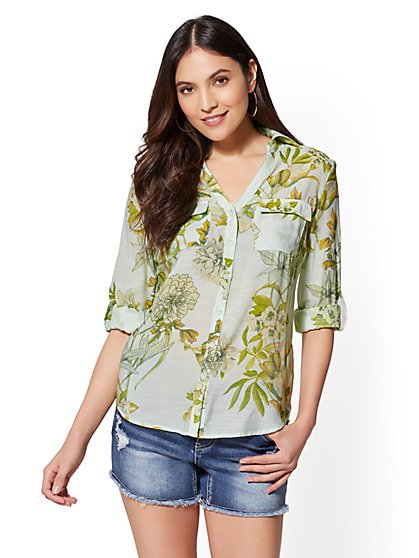Hampton Floral Shirt - New York & Company